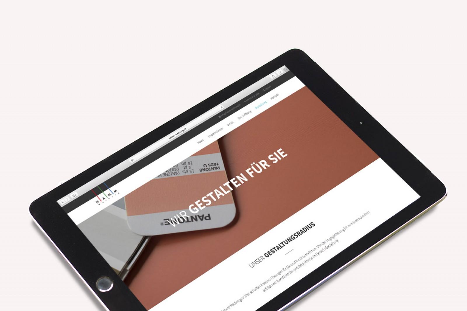 Konzeption und Gestaltung der neuen Website für Hamm-Werbung