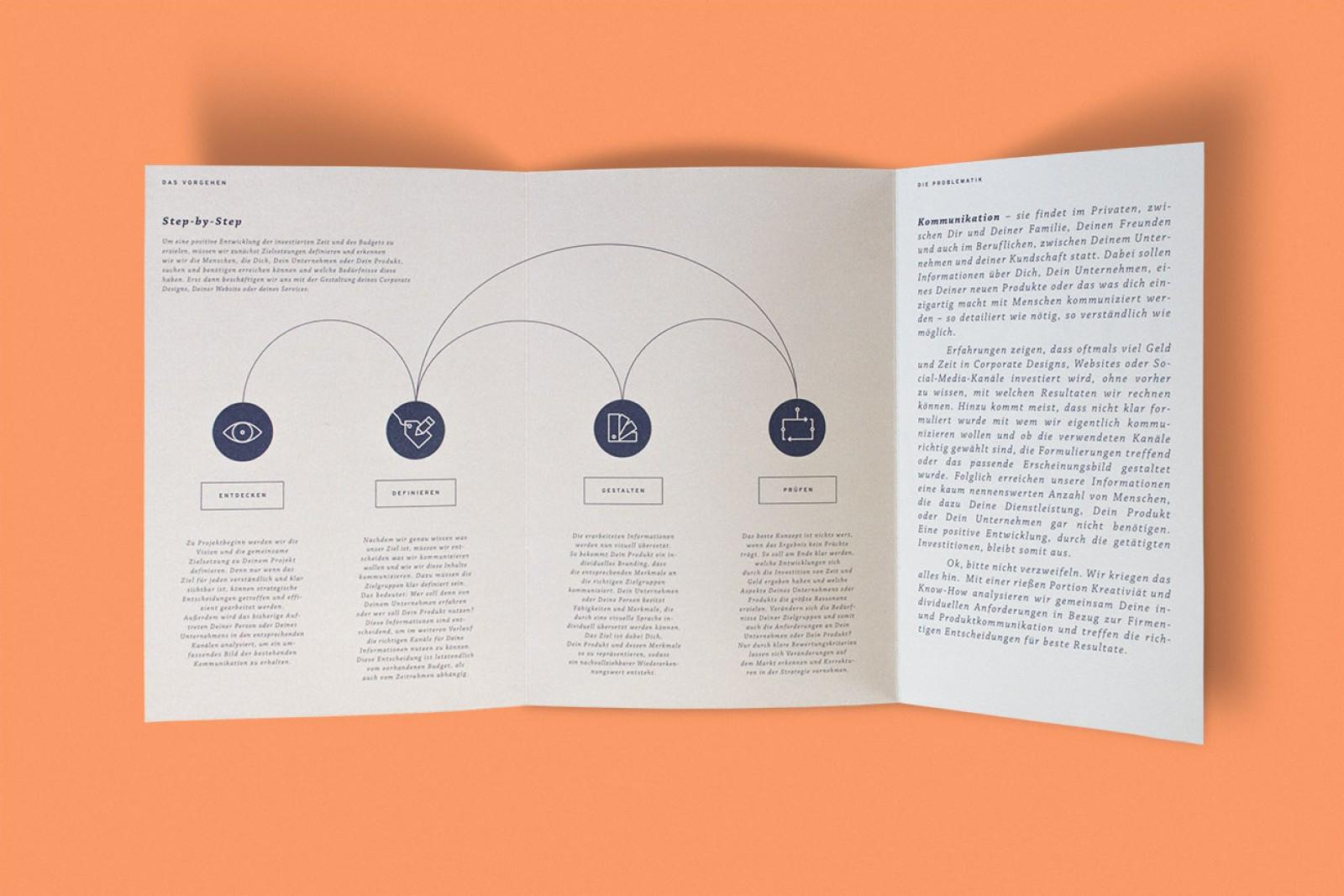 Grafikdesign und Layout für neue Unternehmensbroschüre für Tobias Albrecht in Neuburg an der Donau